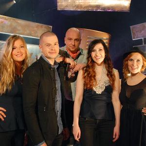 Siru Airistola, Emma Schnitt, Tuuli Okkonen ja Jussi Kari Tartu Mikkiin -ohjelmassa 31.10.2014