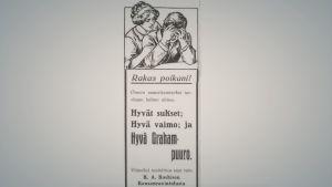 Graham-puuro mainos lehdessä vuonna 1917