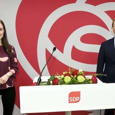 Sanna Marin ja Antton Rönnholm