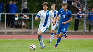 William Lindqvist var en dem som mötte Slovakien i U17-landskamp.