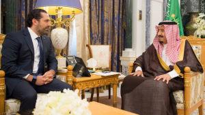 Saad al-Hariri träffade Saudiarabiens kung Salman bin Abdulaziz Al Saud den 6 november, två dagar efter sitt avgångsbesked