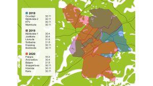 Telekommunikationsnätet i koppar avvecklas på Karis Telefon Ab:s område.