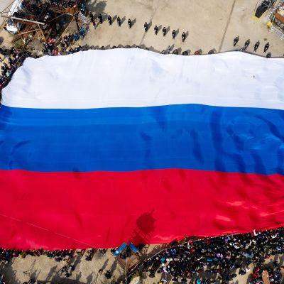Venäjän lippu Sevastopolissa, Krimissä.