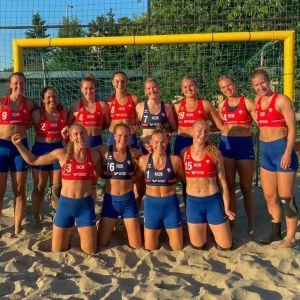 Norges damlandslag i beachhandboll 2021.
