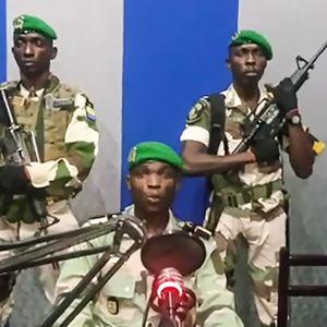 Kelly Ondo Obiang  talar till invånarna i Gabon.
