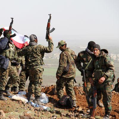 Syyrian armeijan joukkoja Daraan maakunnassa.
