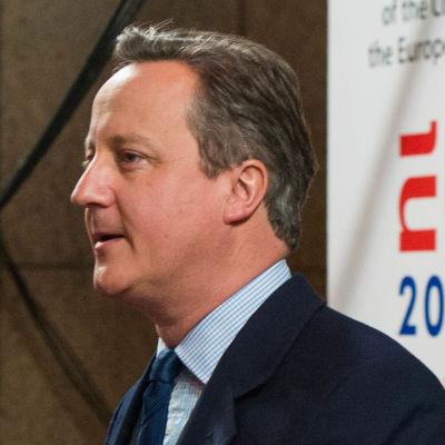 David Cameron vid EU-toppmötets första dag i Bryssel den 28 juni 2016.