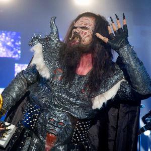 Lordi-yhtyeen solisti Tomi Putaansuu Euroviisujen Suomen karsinnassa 2006