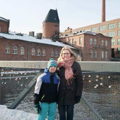 Kalle Kulmala ja Katriina Kautto Patosillalla