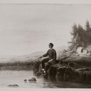 Runeberg metar. Målning av Johan Knutson.