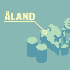 Karta över landskapet Åland och eurosymboler