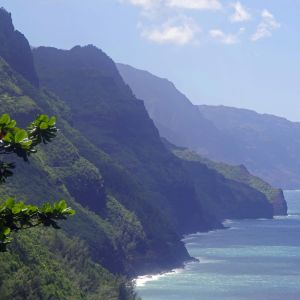 Na Pals kustområde på ön Kauai på Hawaii.