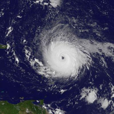 Satellitbild på orkanen Irma. S