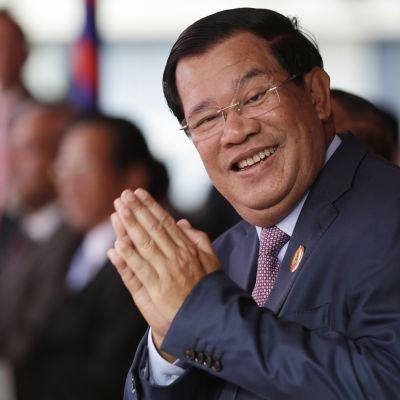 Kambodžan pääministeri Hun Sen Phnom Penhissa tammikuussa 2017.