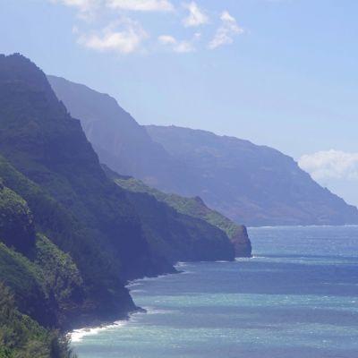 Na Palin rannikkoalue Havaijin Kauai-saarella.