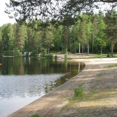 Jyväskylän Köhniön uimaranta.