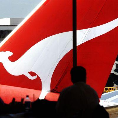 Ett av det australiska flygbolaget Quantas plan
