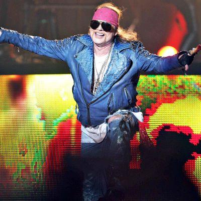 Guns N' Roses -yhtyeen laulaja Axl Rose lavalla vuonna 2014.