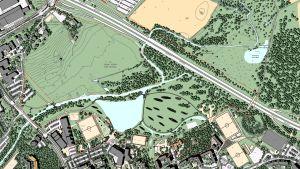 Detaljplan för parken i Kyrkträsk, Esbo.