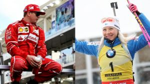 Kimi Räikkönen och Kaisa Mäkäräinen.