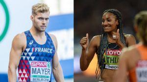 Kevin Mayer och Nafissatou Thiam.
