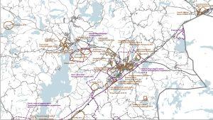 Raseborgs planläggningsprogram för åren 2014-2018 för stadens norra delar.