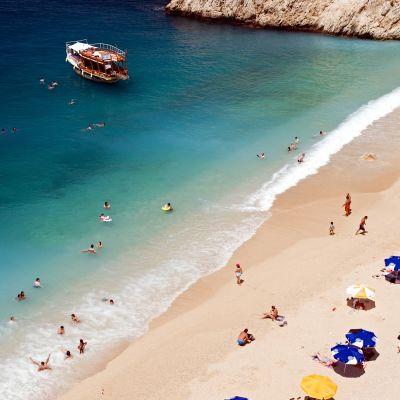 Kaputas-ranta Antalyassa, Turkissa.