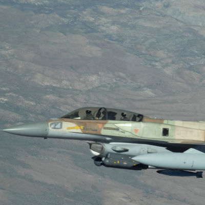 Ett F16 ur Israels flygvapen