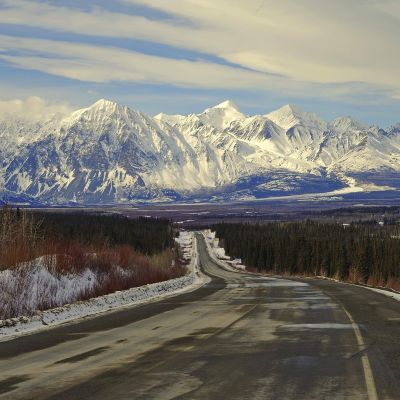 Myös Kanadan luoteisimmilla territoriolla Yukonilla on rikottu muutamana viime keväänä lämpöennätys toisensa jälkeen. Kuva maaliskuulta 2018.