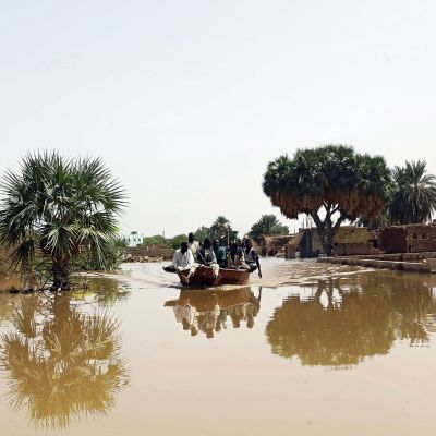 Veden vallassa oleva Wad Ramlin kylä noin 45 kilometriä Sudanin pääkaupungista Khartumista pohjoiseen.