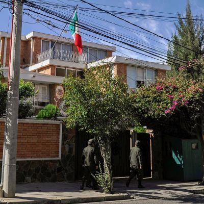 Meksikon suurlähetystö Bolivian pääkaupungissa La Pazissa.