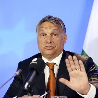 Unkarin pääministeri Viktor Orban valokuvassa 3. syyskuuta.