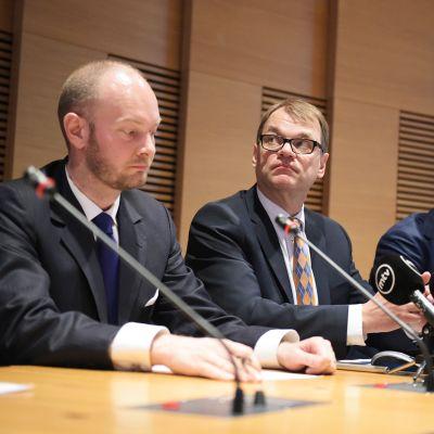 Pääministeri Juha Sipilän tiedotustilaisuus omistajapolitiikan linjauksista 12. toukokuuta.