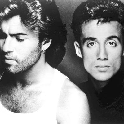 Wham-yhtye eli George Michael ja Andrew Ridgeley vuonna 1986.