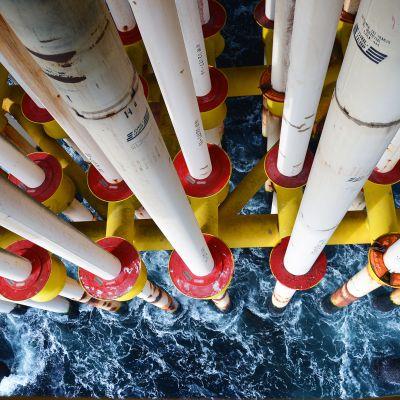 Kuva Granen öljyporauslautalta Norjasta.