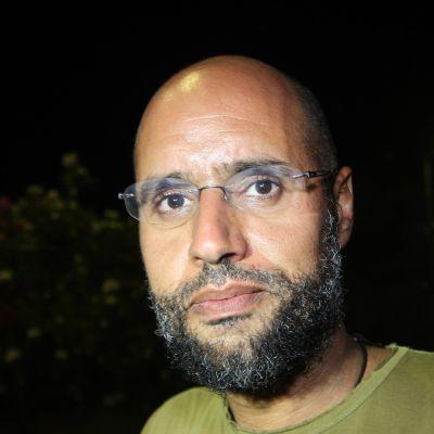 Saif al-Islam valokuvattuna Tripolissa vuonna 2013.