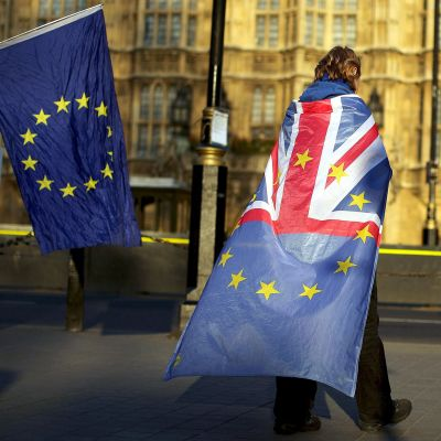 Brexitin vastustajia Lontoossa 27. maaliskuuta.