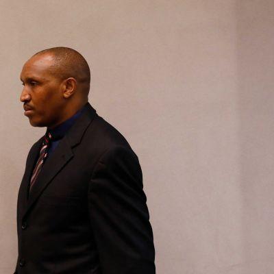 Sissijohtaja Bosco Ntaganda kuvattuna Haagin kansainvälisessä rikostuomioistuimessa elokuussa 2018.