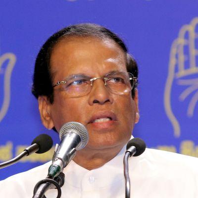 Sri Lankan presidentti Maithripala Sirisena kuvattuna vuonna 2018.