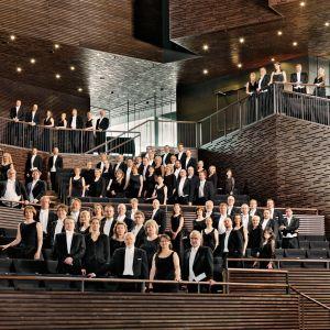 Medlemmarna i Radions symfoniorkester (utan instrument) i Musikhuset i Helsingfors