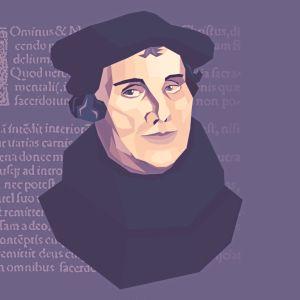 Muotokuva Martti Lutherista.