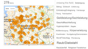 Kuvakaappaus Hoaxmap.org -sivustosta