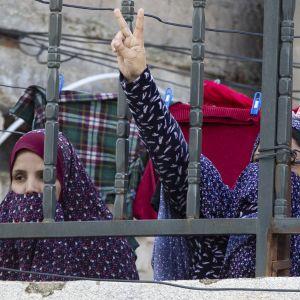 Kvinnor i flyktinglägret Al-Baqa'a  i Amman, Jordanien 31.1.2020
