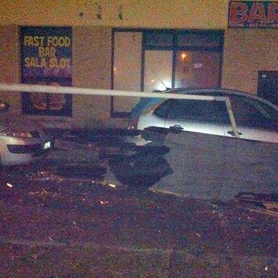 Tornadon aiheuttamia vahinkoja Ladispolin kylässä, Italiassa 6. marraskuuta.
