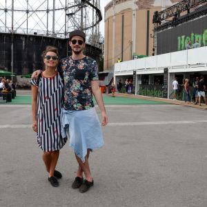 Venancio från Bracilien och Alexandra drog våra blickar till sig. Snygg sommarstil.