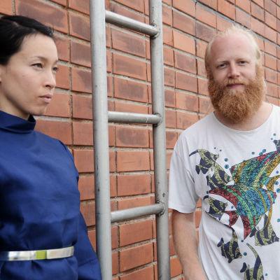 Yukimi Nagano och Håkan Wirenstrand från Little Dragon på Flow 2014.