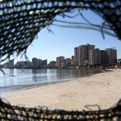 Varoshan ranta-alue Kyproksen Famagustassa.