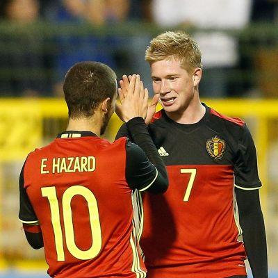 Kevin De Bruyne och Eden Hazard.