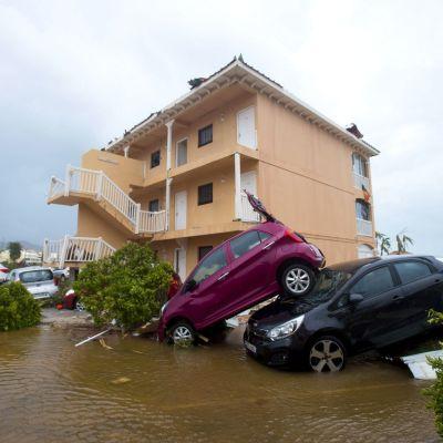 Förödelse på Saint martin efter stormen Irma.