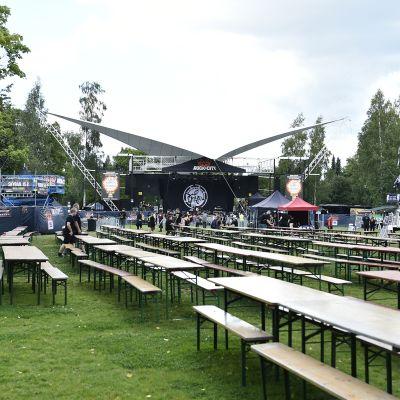 Rock in the city -festivaali Porissa elokuussa.